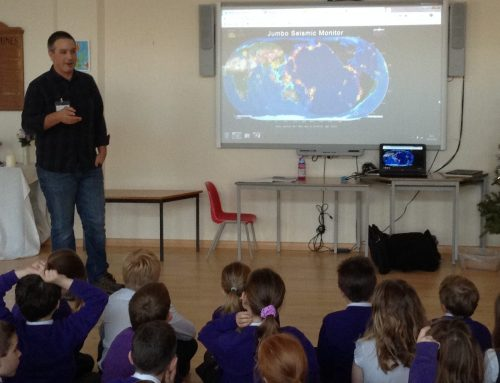 Talking earthquakes with local schools